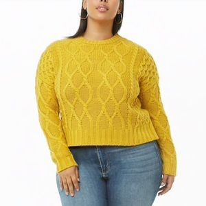 Forever 21+ Plus Size Cable Knit Sweater